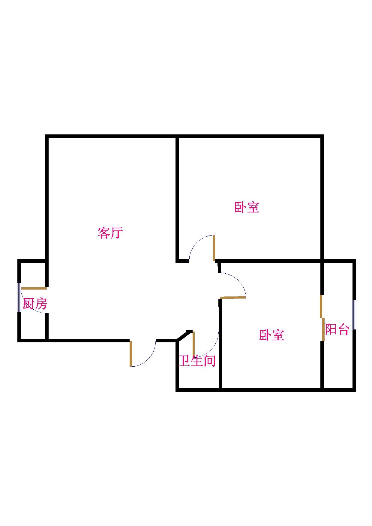 金卉小区 2室1厅 2楼