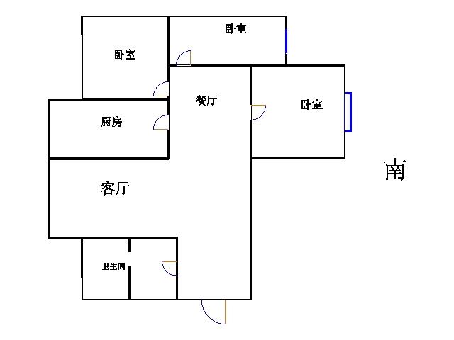 嘉城盛世 3室2厅  简装 136万