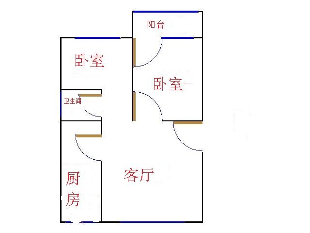 邹李小区 2室2厅  简装 58.5万