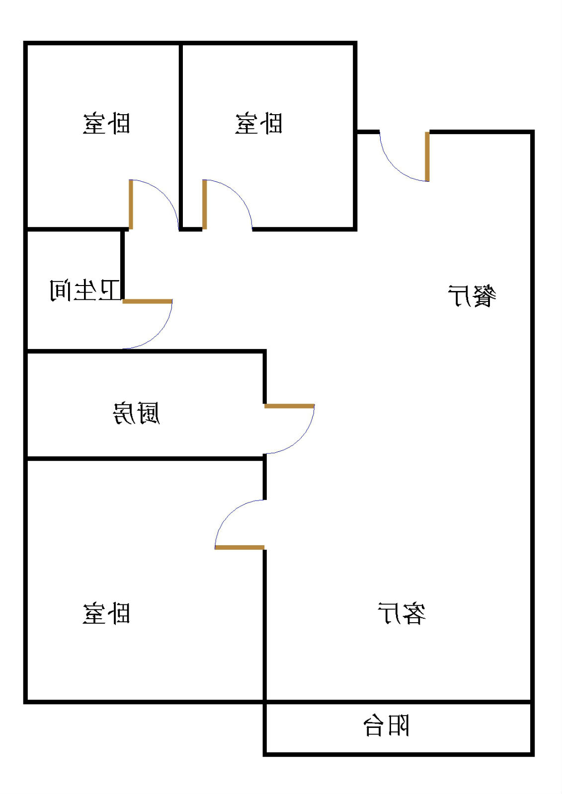 嘉城盛世 3室2厅 双证齐全 简装 115万