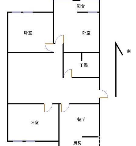 贵康家园 3室2厅  简装 115万