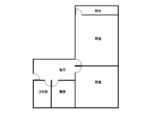 北园小区 2室1厅  简装 52.8万
