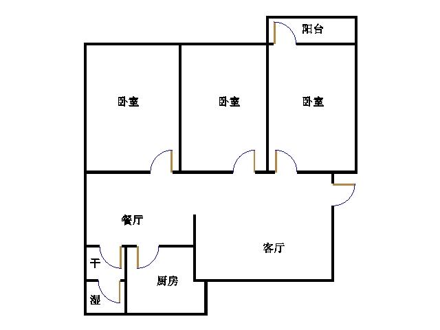 棉麻宿舍 3室2厅 双证齐全 简装 69万