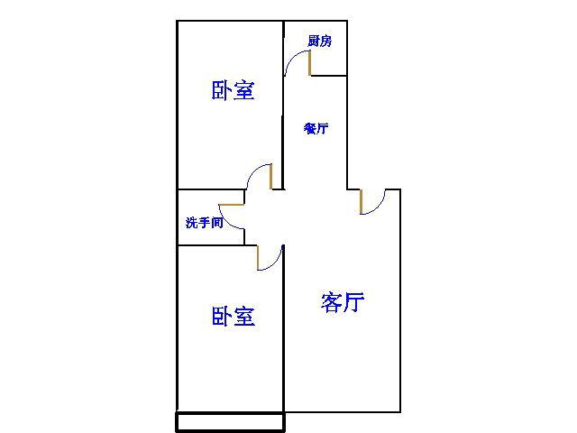 十三局宿舍西区 2室2厅 双证齐全过五年 简装 75万