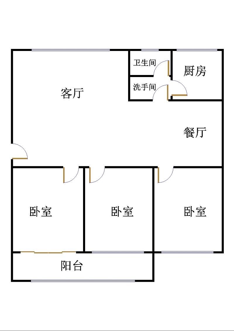 鑫龙家园 3室2厅 过五年 简装 230万