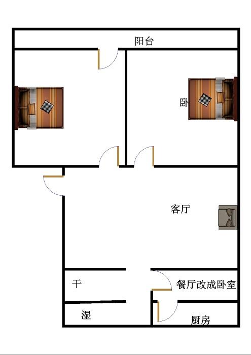 传输局宿舍(新华农贸市场) 3室2厅 双证齐全 简装 90万
