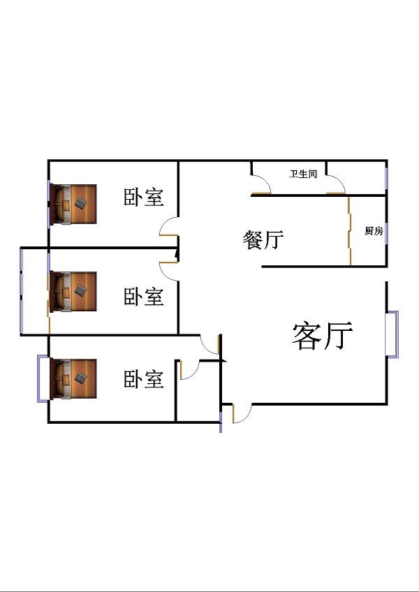 南龙国际花园 3室2厅 双证齐全 简装 155万