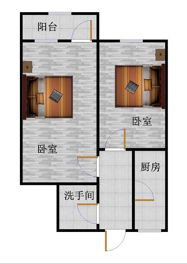 二棉宿舍 2室1厅 双证齐全过五年 简装 62万