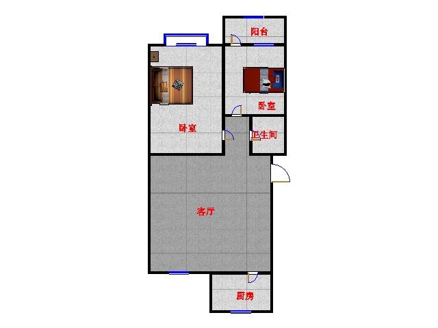 嘉泰园 2室1厅 双证齐全 精装 76万