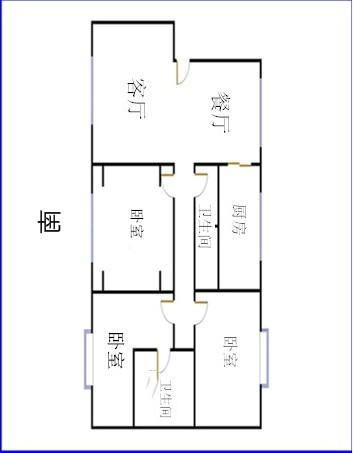 中茂家园 3室2厅 双证齐全 简装 248万