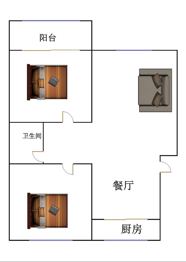 名仕雅居小区 2室2厅 双证齐全 精装 105万