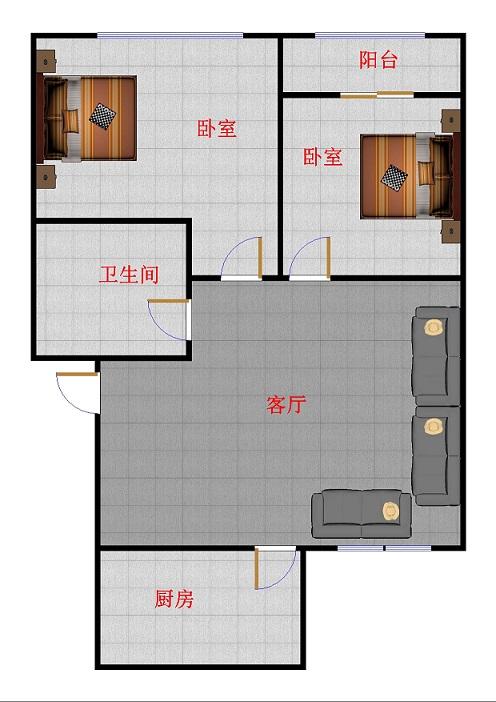 印染厂宿舍 2室2厅 双证齐全过五年 简装 135万