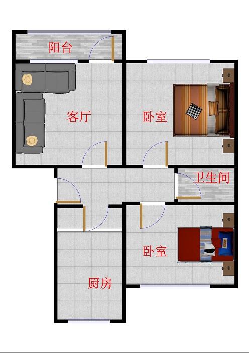 十三局二百亩宿舍 2室2厅 双证齐全 简装 65万