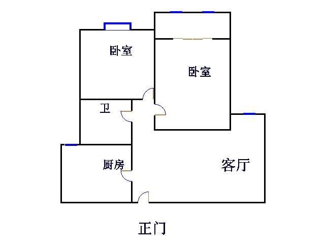 盛和景园 2室2厅 6楼