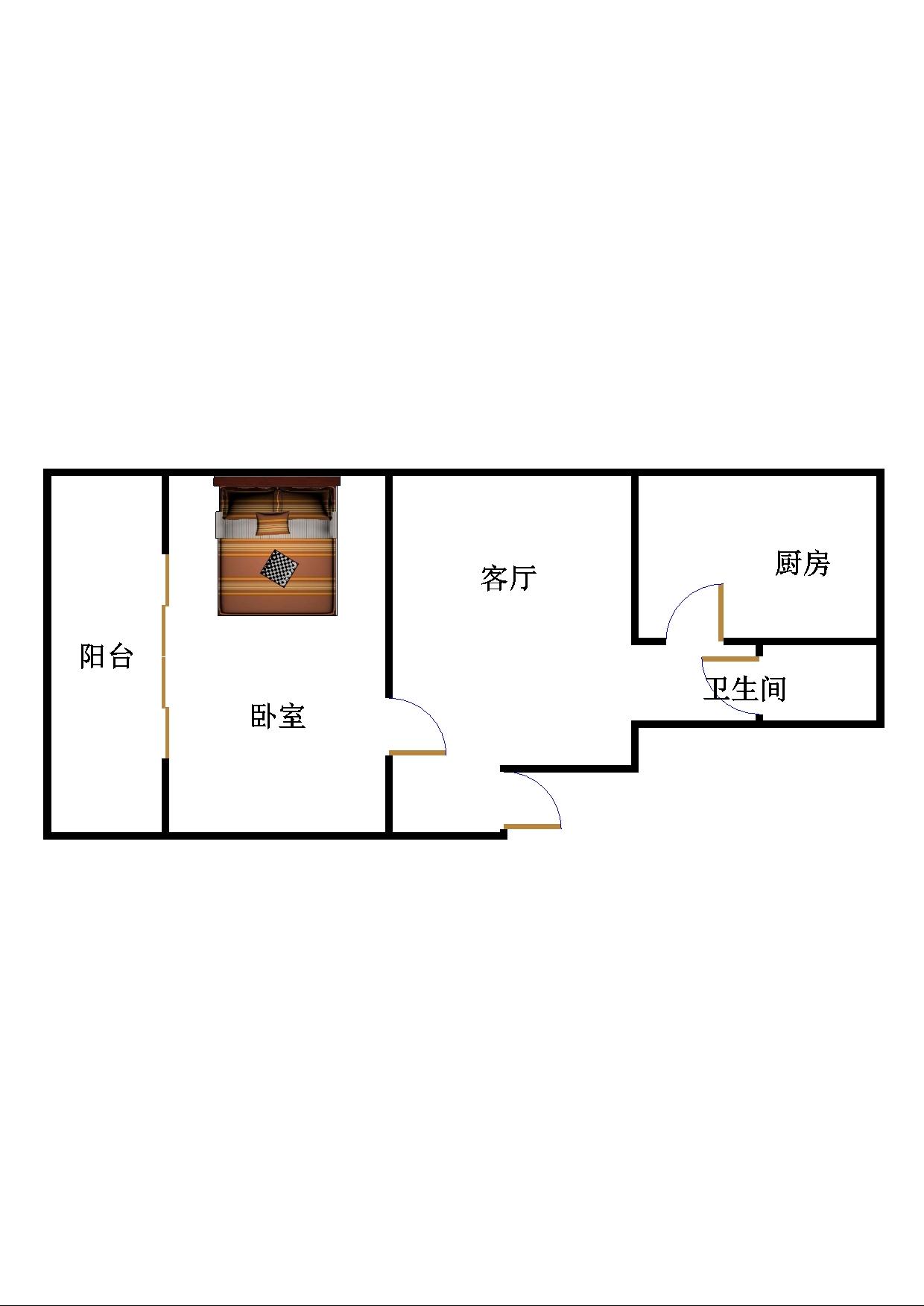 中原纺织小区 2室1厅 双证齐全过五年 简装 75万