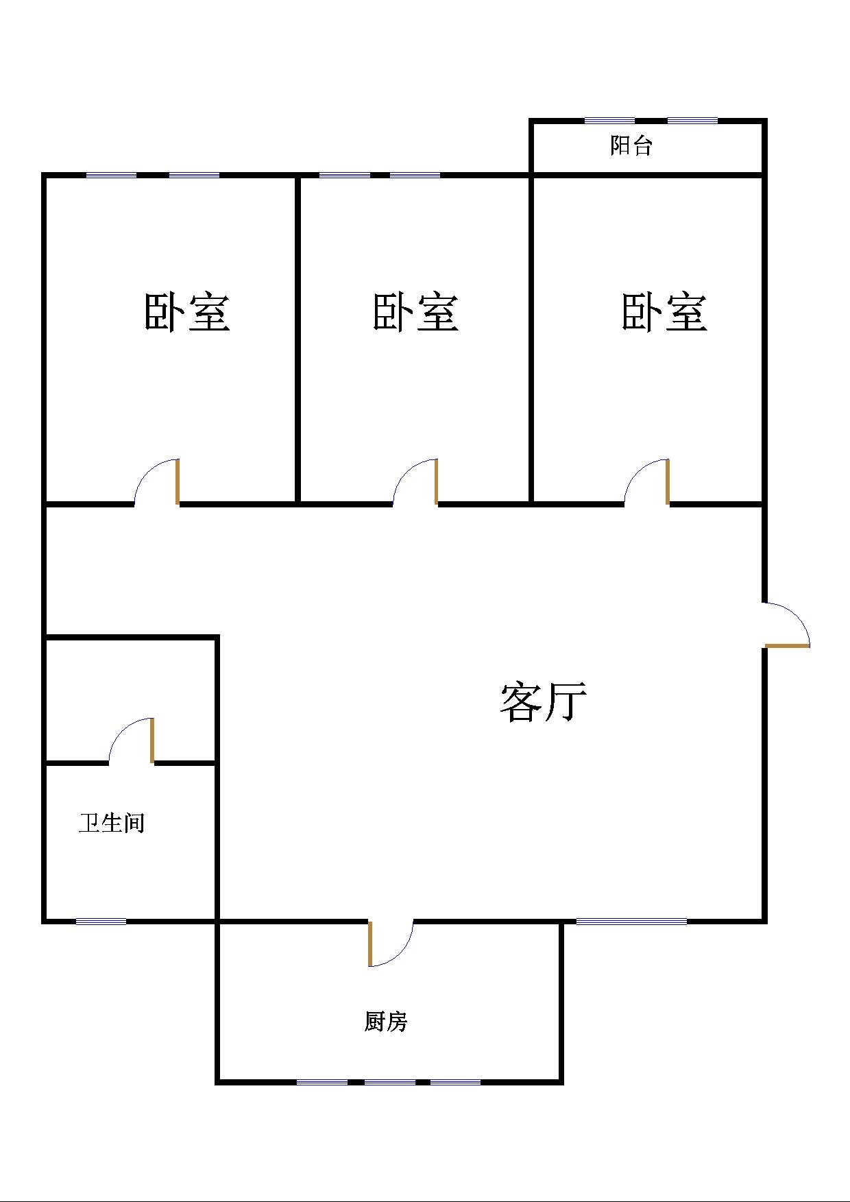 湘江小区西区 3室1厅 双证齐全 精装 120万