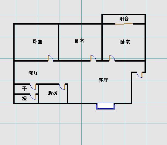 东方家园 3室2厅  精装 258万
