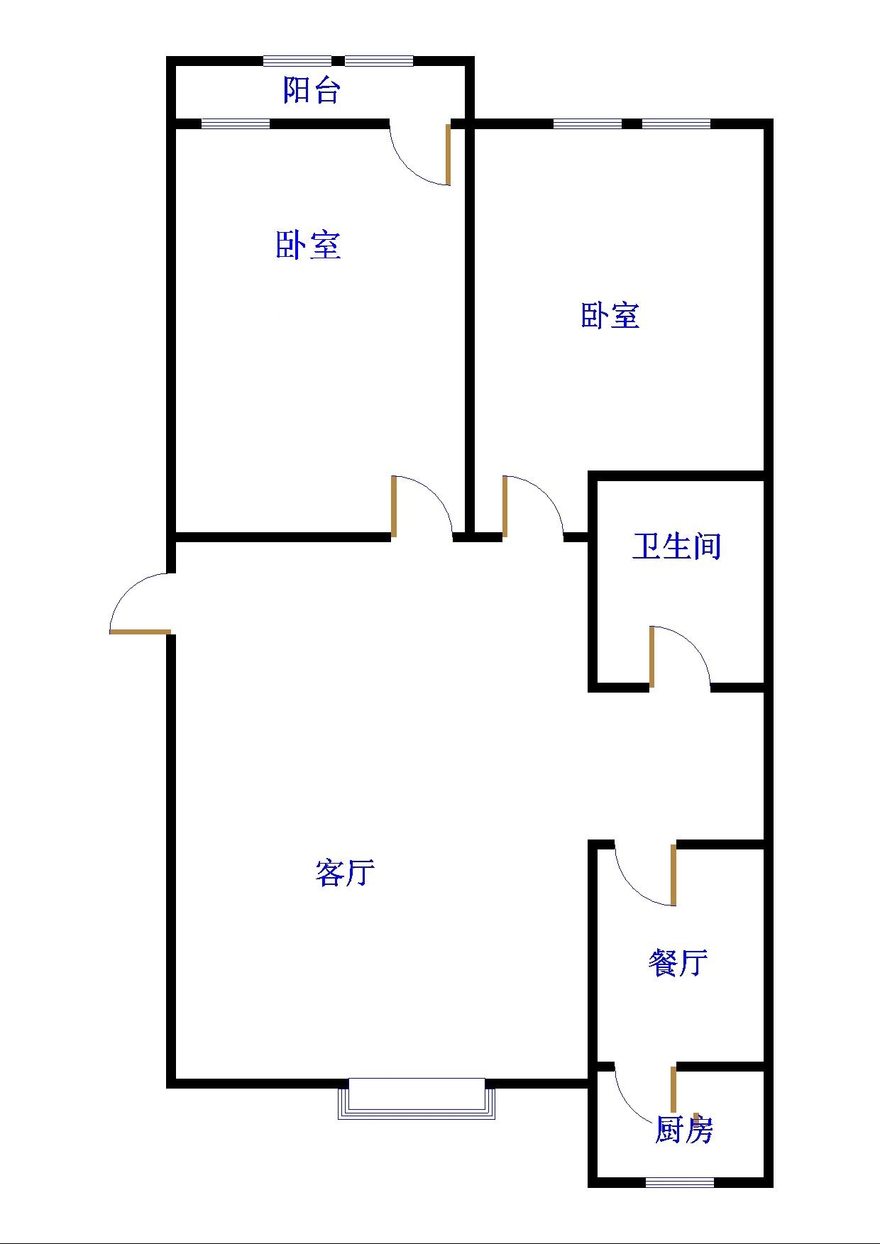 安然居宿舍 2室2厅 双证齐全过五年 简装 110万