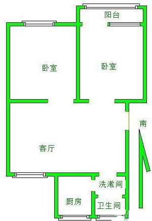 新华小区 2室1厅  精装 72万