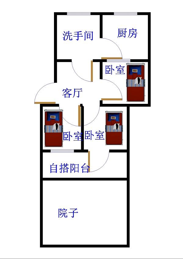 中原输气公司北区 3室1厅  简装 99万