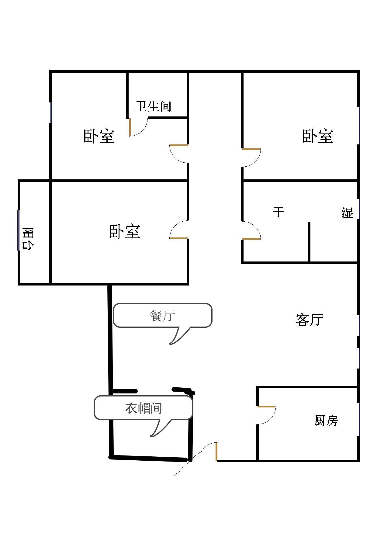 嘉城盛世 3室2厅  简装 130万