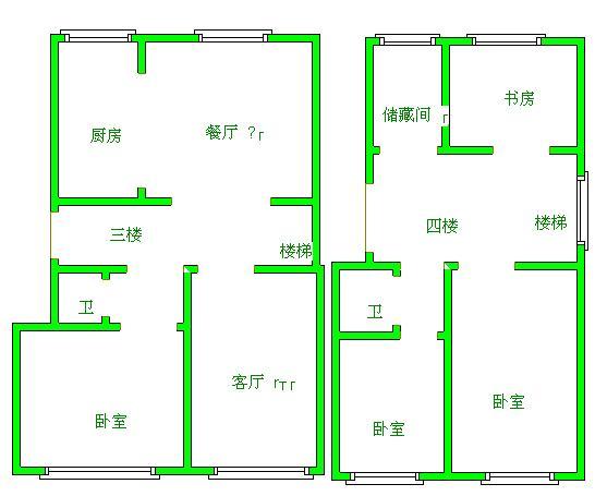 凯元山庄 4室2厅  精装 258万