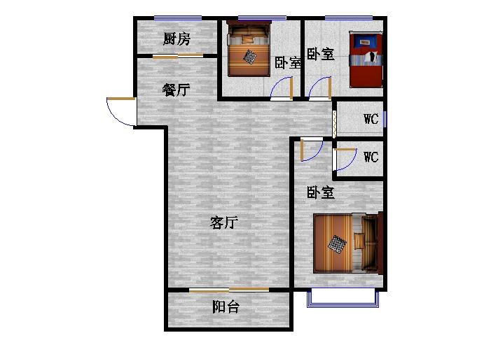 东方明珠小区 3室2厅  精装 279万