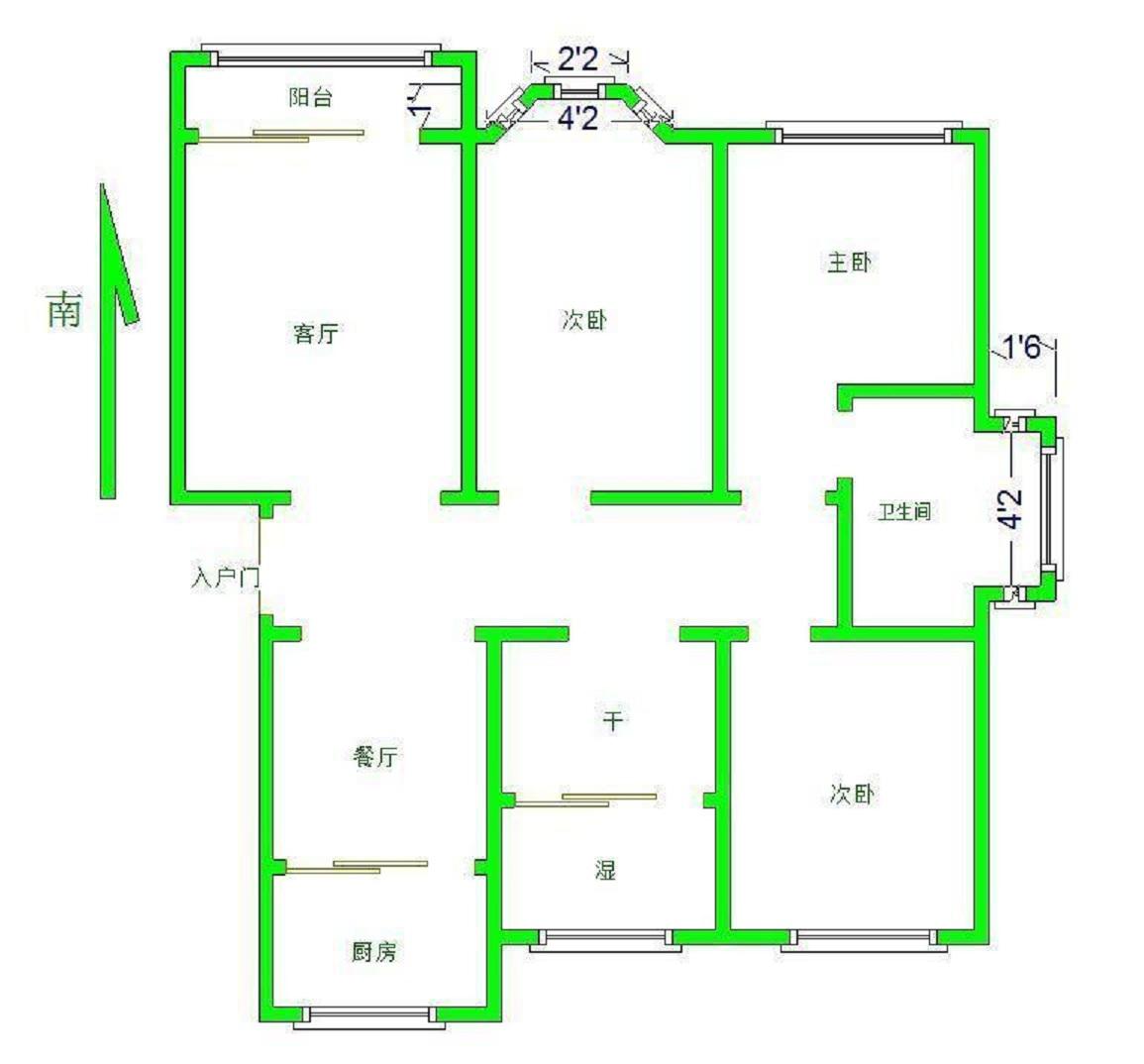 安然居宿舍 3室2厅 双证齐全过五年 精装 190万