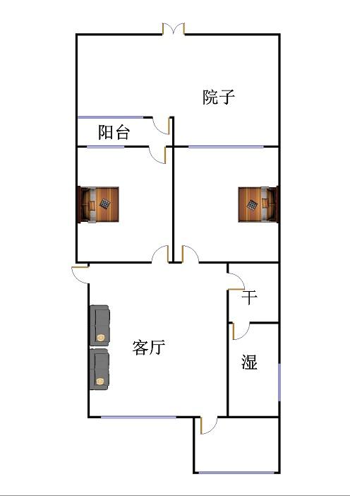 广川小区 2室2厅  简装 90万