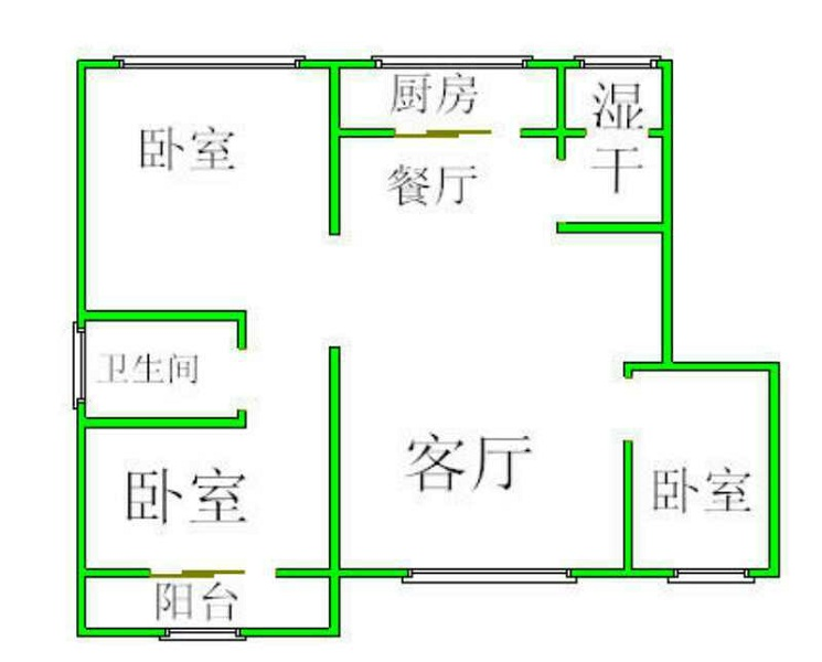长河明珠 3室2厅 5楼