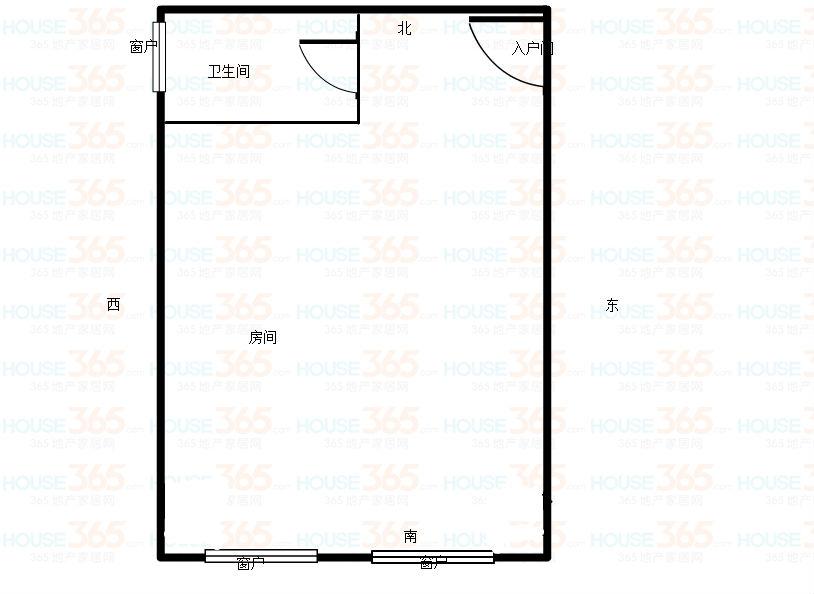 万达广场公寓 1室1厅 17楼