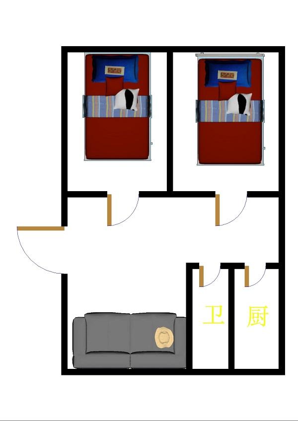 康乐小区 2室1厅 6楼