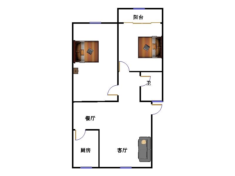 西长新村 2室1厅 6楼