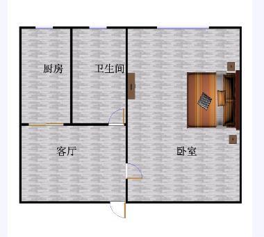 金茂豪庭 1室1厅  简装 37万