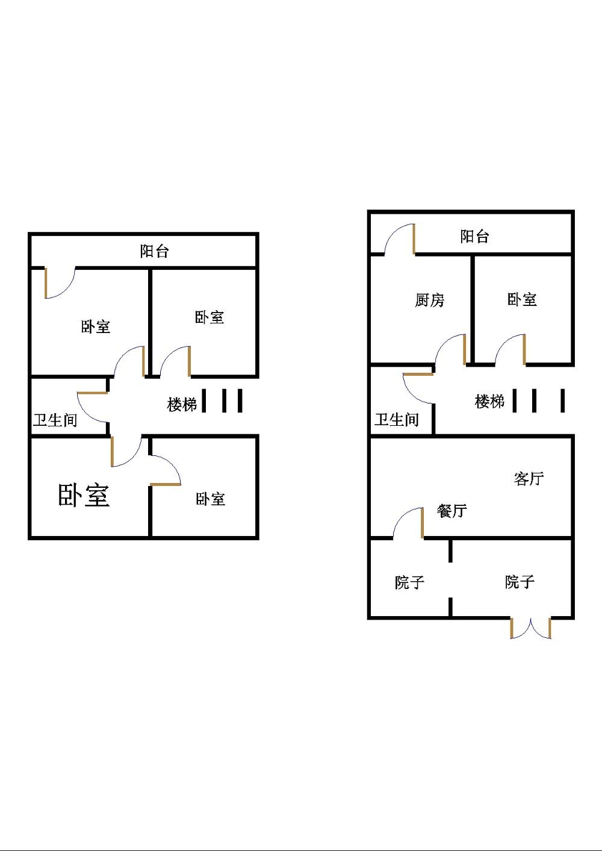 陈公庄园 4室2厅  简装 90万