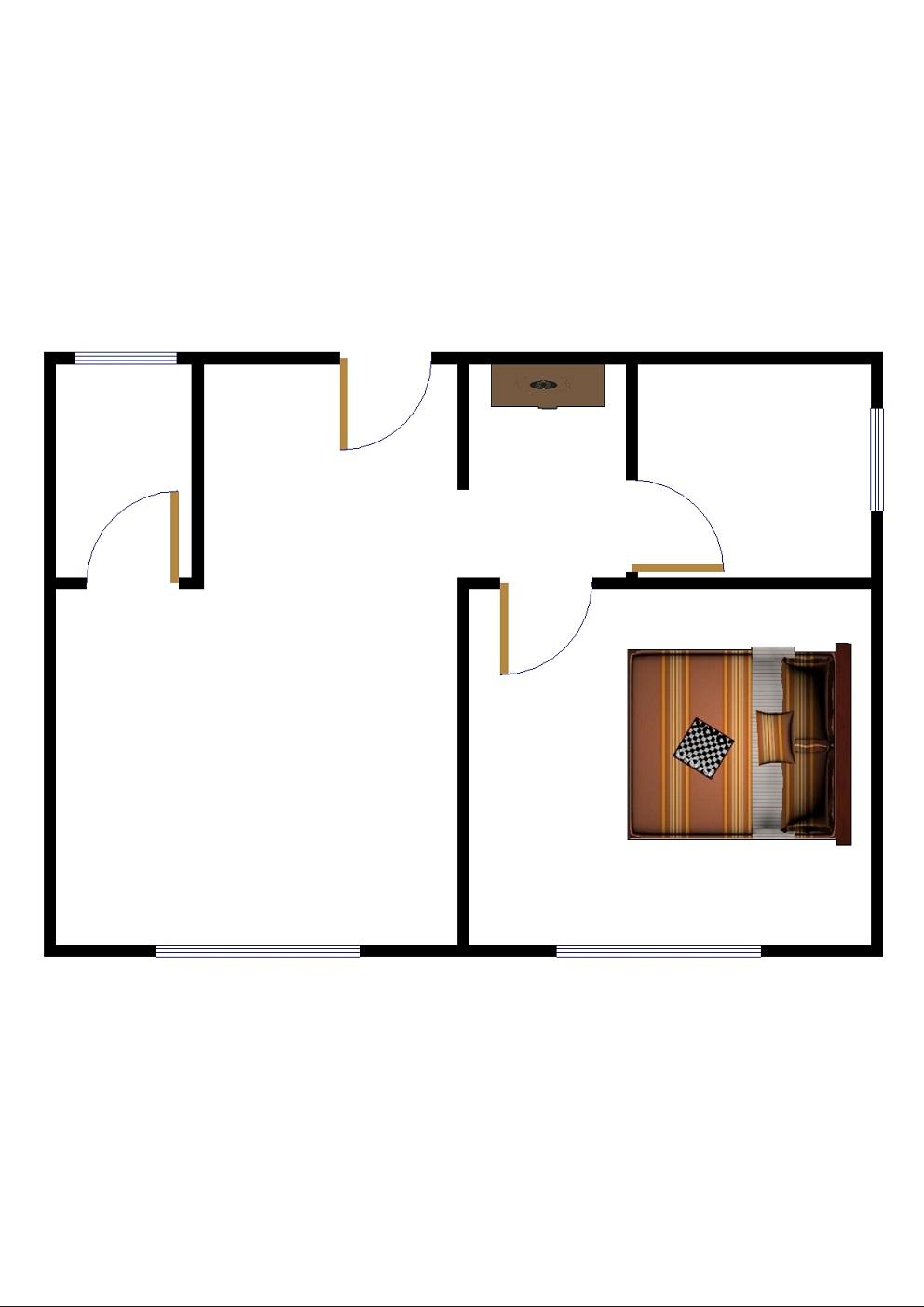 运河鑫城 1室1厅 4楼