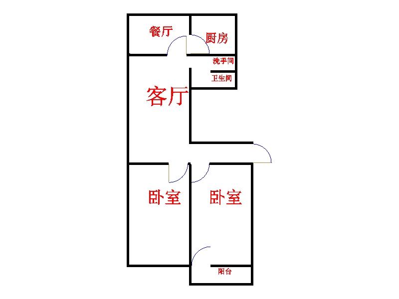 工科所宿舍 2室1厅 5楼