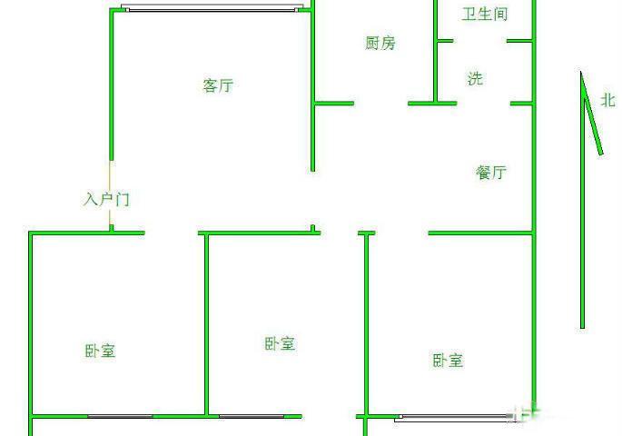 青龙潭小区 3室2厅 双证齐全 简装 122万