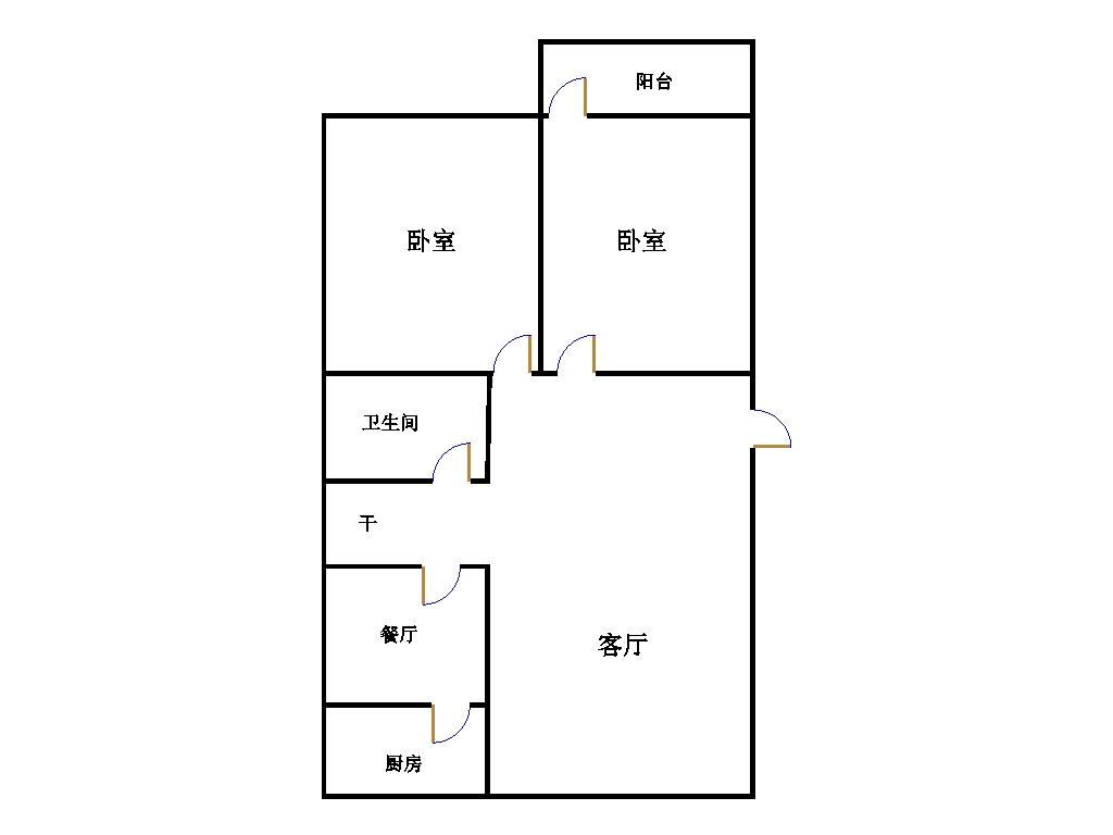 天华小区 2室2厅 双证齐全 简装 85万