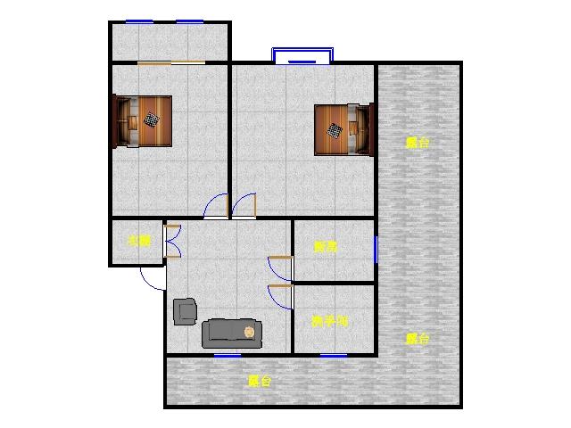岔河紫薇园 2室1厅 过五年 简装 80万