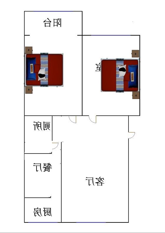 邹李小区 2室2厅  简装 52万