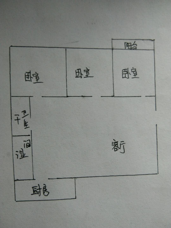 职业技术学校宿舍 3室2厅 6楼