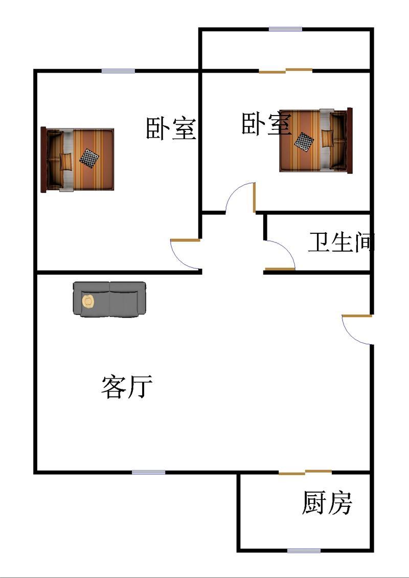 乾城德兴园 2室2厅  简装 35万