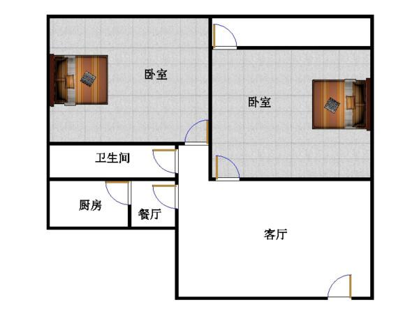 十三局宿舍西区 2室2厅  简装 66万