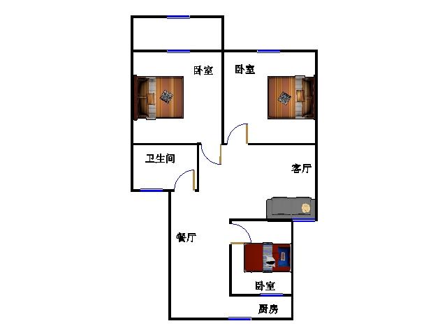 天宝嘉园小区 3室2厅 双证齐全 精装 63万