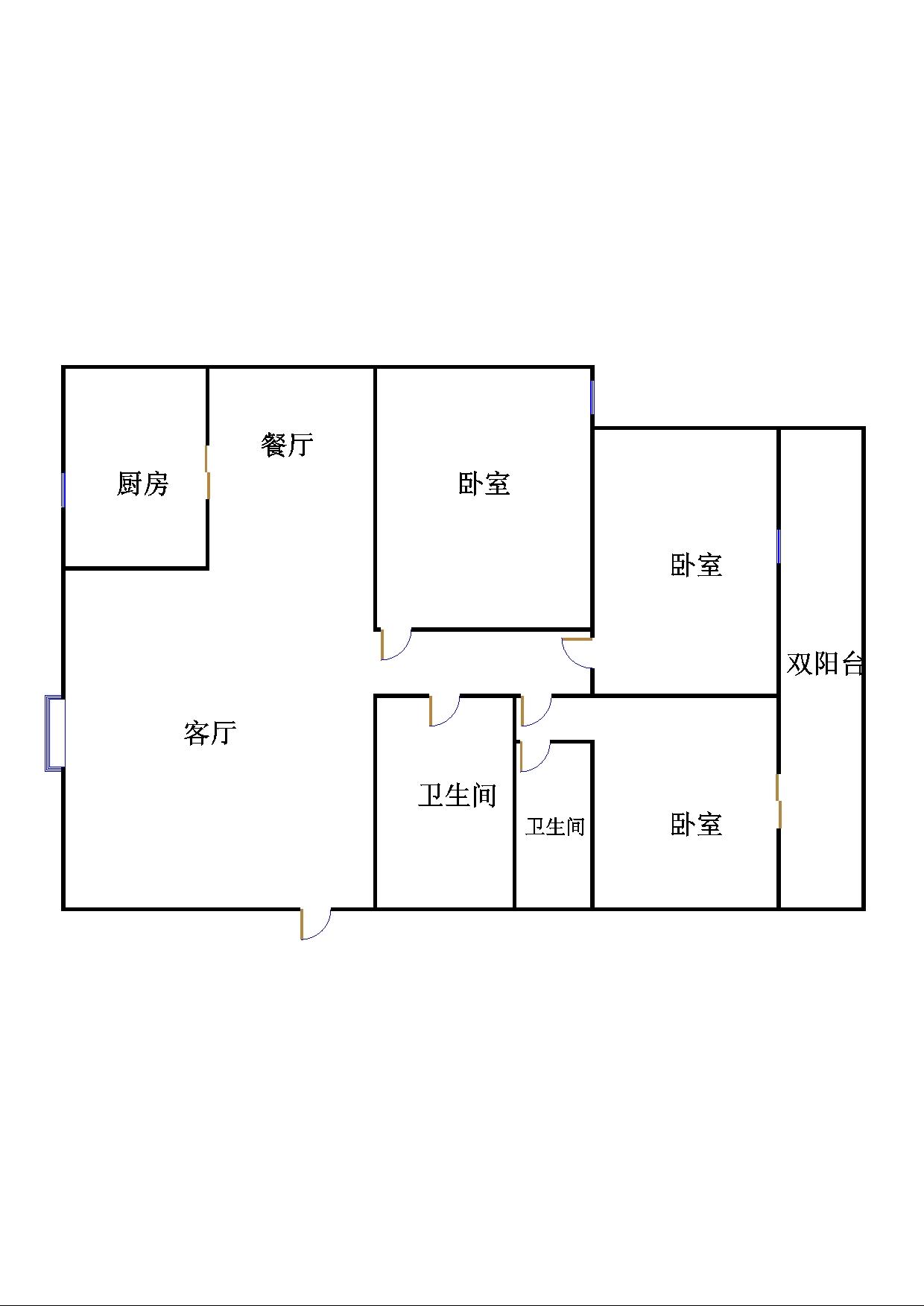 中茂家园 3室2厅  精装 168万