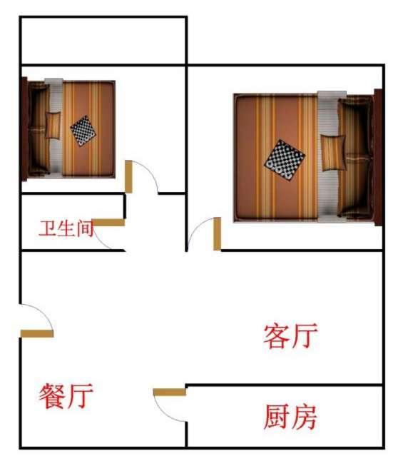 印染厂宿舍 2室2厅 过五年 简装 95万