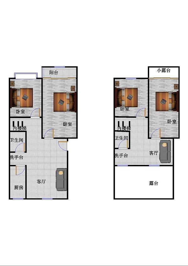 西长新村 2室2厅  简装 74万