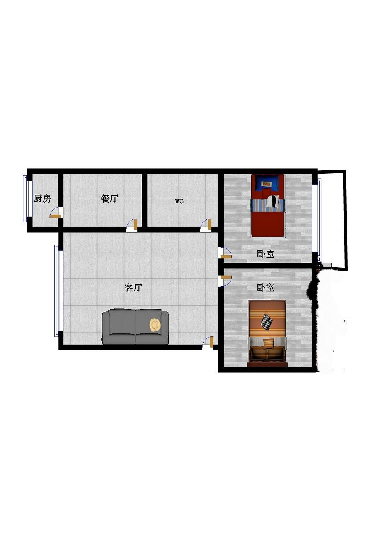 北园小区 2室1厅 过五年 简装 62万