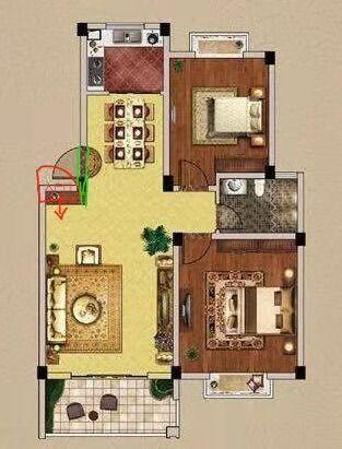 贵都花园 2室1厅  精装 43.8万